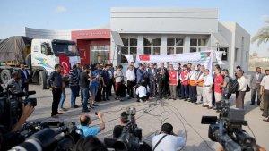 Yardım malzemeleri Gazze'ye ulaştı