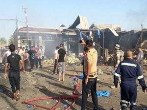 Bağdat'ta pazar yerine bombalı saldırı