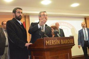 Metin Feyzioğlu Mersin'de protesto edildi