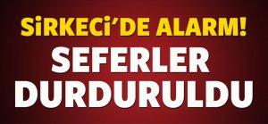 İstanbul'da tramvay durağında şüpheli paket alarmı