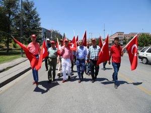 ATO'dan Darbe Girişimini Protesto Yürüyüşü