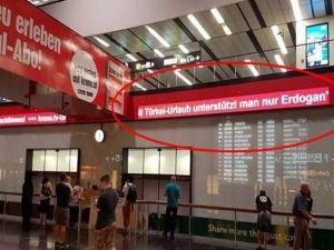 Viyana Havalimanı'ndaki küstah yazıyı Dışişleri Bakanlığı kaldırttı