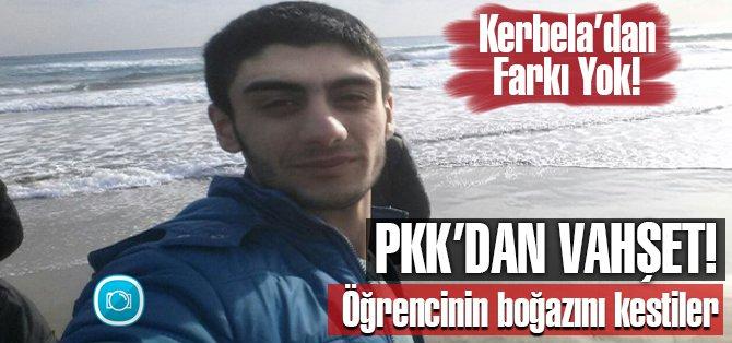 PKK'den Vahşet! Öğrencinin boğazını kestiler