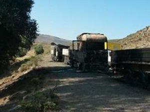 B Planı devrede: PKK Karlıova'da 5 araç yaktı!
