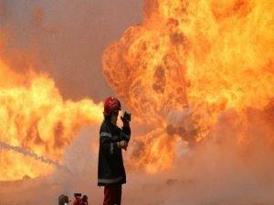 İran'da hastane yangını