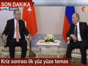 Erdoğan ve Putin görüşmesi başladı
