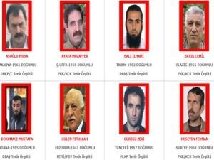 Genişletilmiş terörist listesi yayınladı