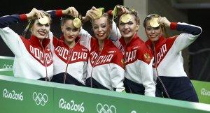 Rusya'ya bir olimpiyat altını da ritmik jimnastikten