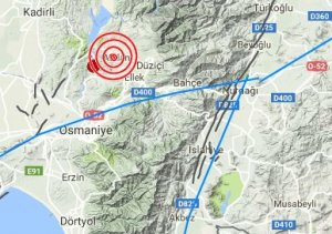 Karagedik duzici osmaniye'de deprem