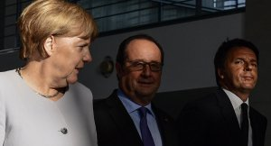 Merkel, Hollande ve Renzi'den 'mini' AB zirvesi