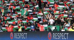 Filistin bayrağı açan Celtic taraftarları, verilen cezanın 2 katı para topladı