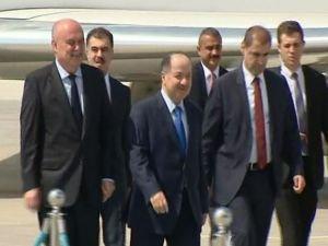 IKBY Başkanı Barzani Ankara'da