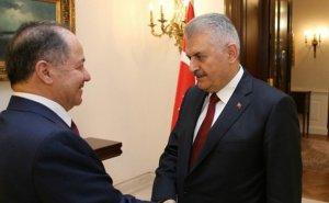 Başbakan Yıldırım, Barzani'yi kabul etti