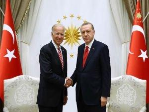 Cumhurbaşkanı Erdoğan Biden ile görüşüyor