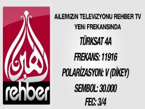 Rehber TV'nin Yeni frekans bilgileri