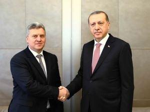 Cumhurbaşkanı Erdoğan, Makedonya Cumhurbaşkanı ile görüştü