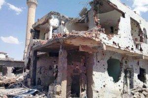 Nusaybin'de camilerde oluşan tahribat