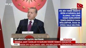 Erdoğan, şehit tepesi hiçbirzaman boş kalmadı