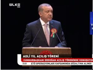 Cumhurbaşkanı Erdoğan Adli Yıl Açılışında konuşuyor