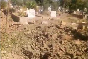 Mezarlıkta bomba düzeneği bulundu