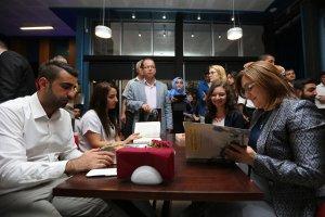 Milli İrade Meydanında 'Kitap Kafe' hizmete açıldı