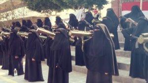 Yemenli kadınlar Suudi saldırılarına karşı hazırlar