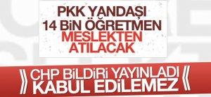 PKK Yandaşı 14 bin öğretmen meslekten atılacak