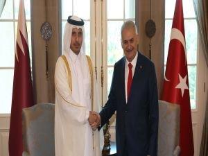 Başbakan Yıldırım, Katar Başbakanı bir araya geldi