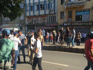Sur'da basın açıklamasına polis müdahalesi