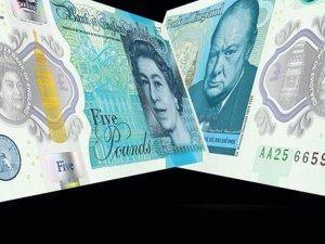 İngiltere'nin ilk plastik banknotu tedavüle girdi