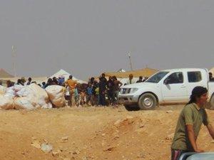 İnsani yardımlar Suriye'ye ulaştı