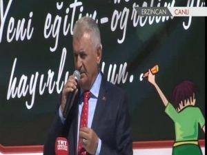 """Başbakan Yıldırım: """"FETÖ'cü ve bölücü öğretmenleri aranızda barındırmayın"""""""