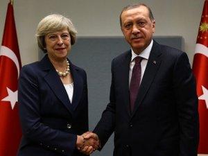 Erdoğan New York'ta  May ve Şerif' ile görüştü