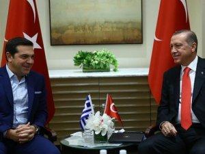 Erdoğan, Çipras'ı kabul etti
