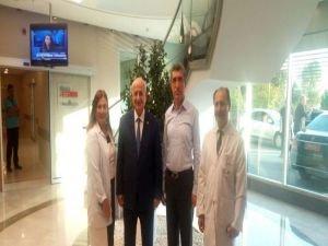 TBMM Başkanı İsmail Kahraman Medistate Kavacık Hastanesi'ni ziyaret etti