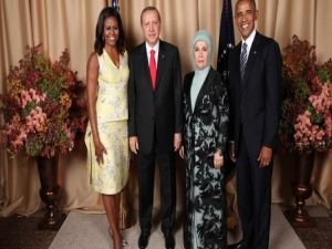 Erdoğan, Obama'nın verdiği resepsiyona katıldı