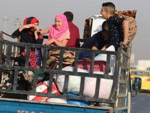 Kerkük'e sığınan 250 aile evlerine döndü
