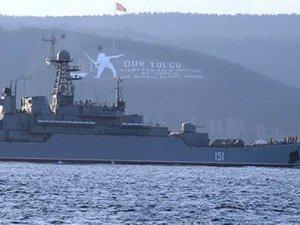 'Georgy Pobedonosets' adlı savaş gemisi, Ege Denizi'nde