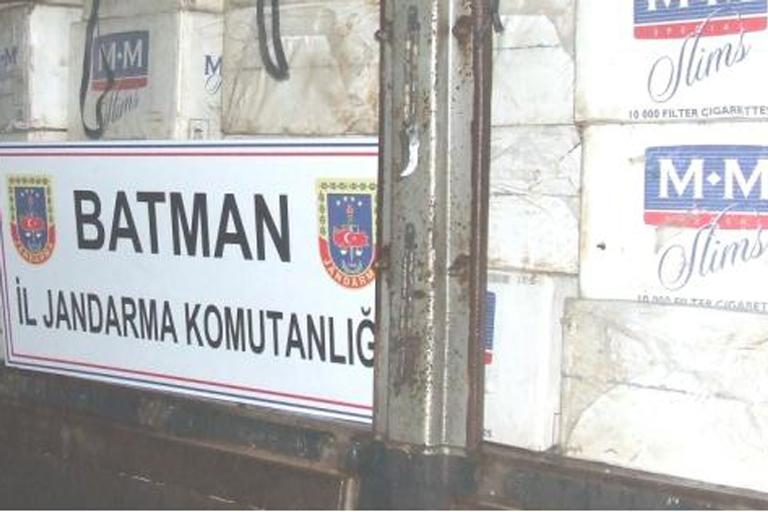 Batman'da 37 bin kaçak sigara ele geçirildi
