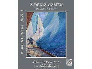 """Z. Deniz Özmen'den """"Denizden Esintiler"""" Sergisi"""