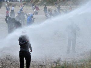 Fransız polisi o gösteriye müdahale etti