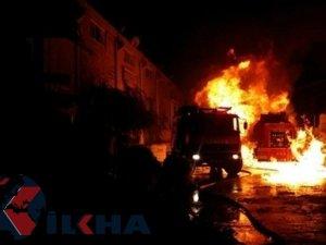 Gaziantep'te tutkal fabrikası yangında kül oldu