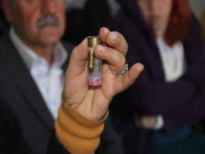 """HDP'li Üyelerin evlerine """"Hizbullah"""" yazılı mermiler"""