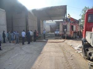 Viranşehir'de Pamuk fabrikasında yangın!