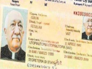 FETÖ'nün Kardinal Pasaportu!