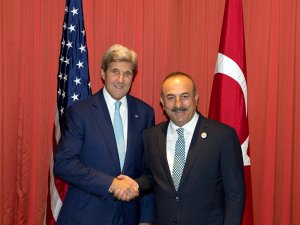 Çavuşoğlu ve Kerry Suriye'yi konuştu