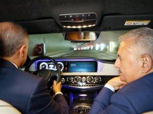 Cumhurbaşkanı Erdoğan Avrasya Tüneli'nden  geçti