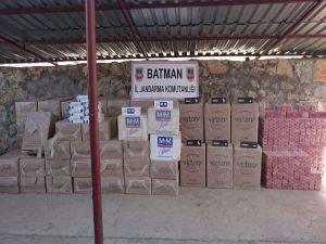 Batman'da 76 bin paket kaçak sigara yakalandı