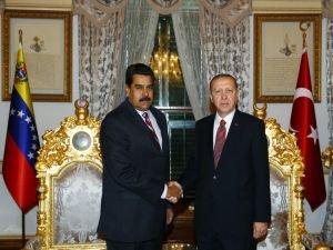 Cumhurbaşkanı Erdoğan, Venezuela Devlet Başkanı ile Görüştü