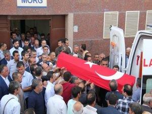AK Parti Dicle ilçe başkanın naaşı köyüne gönderildi